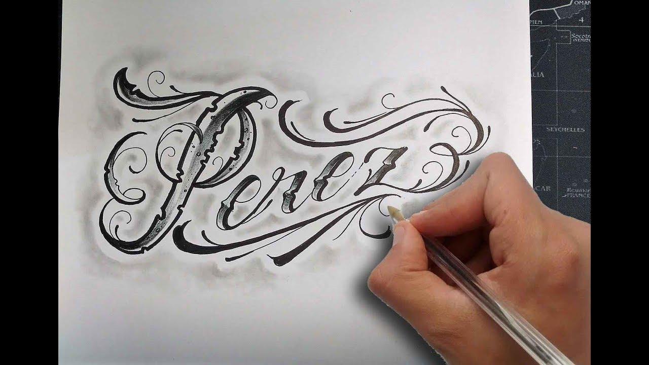 Dibujando Letras Chicanas Perez Drawing Chicano Lettering