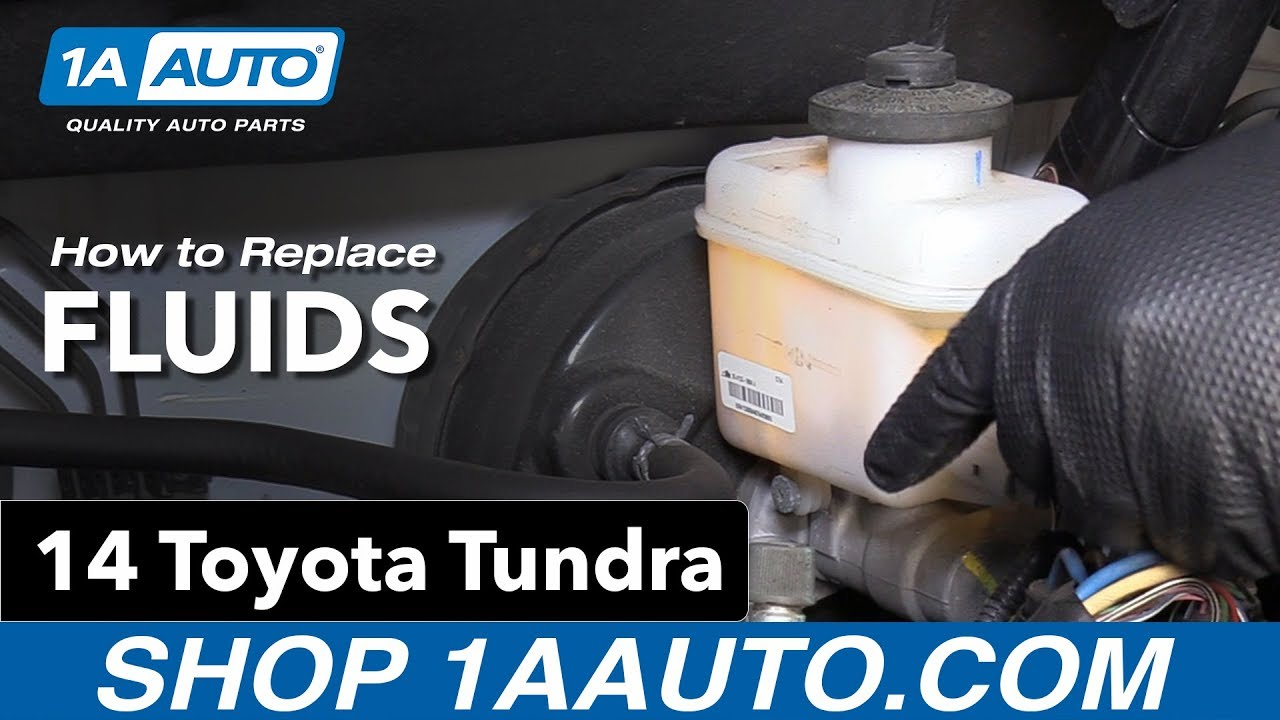 How To Replace Install Fluids 14 Toyota Tundra Youtube 2004 Sequoia Tailgate Handle