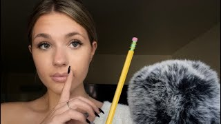 ASMR| Helping You Cheat On A Test| Inaudible Whispering| Personal Attention