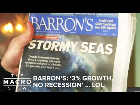 Barron's: '3% Growth, No Recession' … LOL