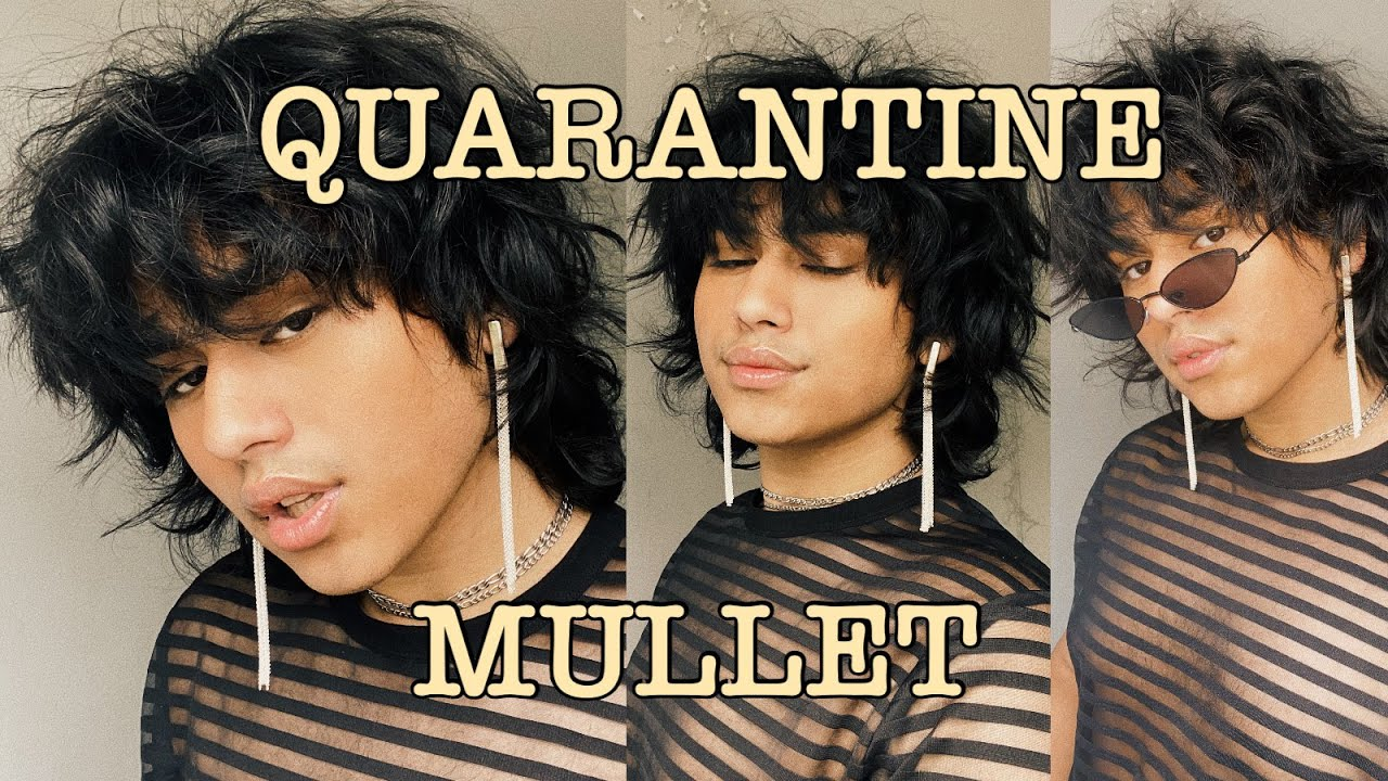 GIVING MYSELF A MULLET BECAUSE QUARANTINE IS DRIVING ME ISNANE ...