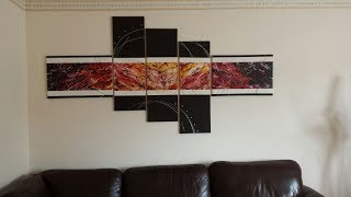 Abstract Painting  Easy How to paint acrylic abstract painting