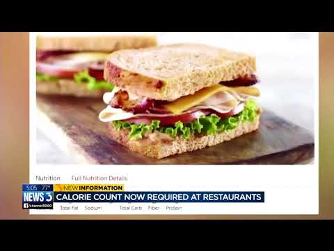Calorie count required in restaurant menus effective today