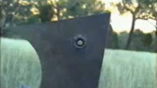 Glass Lined Shaped Charge Penetrates 2 inches of Steel.