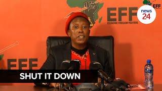 WATCH   Julius Malema gives Minister Angie Motshekga 7 days to close schools