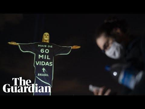 Christ the Redeemer statue lit up for coronavirus victims