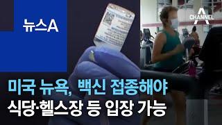 미국 뉴욕, 백신 접종해야 식당·헬스장 등 입장 가능