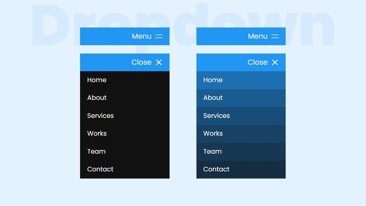 How To Create a Responsive Dropdown Navigation Bar | Dropdown Menu using Html CSS & Javascript