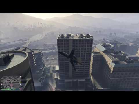 GTA Online - Amazing - Luxor Crash Lands in Alley