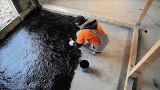 видео Гидроизоляция санузла деревянном доме: обмазочные и рулонные материалы