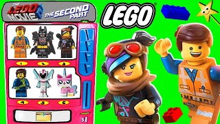 THE LEGO MOVIE 2 MINIFIGURE Toy Vending Machine Game w SURPRISE BLIND BAGS