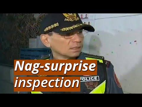 UB: NCRPO Chief Eleazar, nag-surprise inspection; pulis, akmang bubunot ng baril nang maalimpungatan
