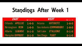 AAF Season 1 Week 2