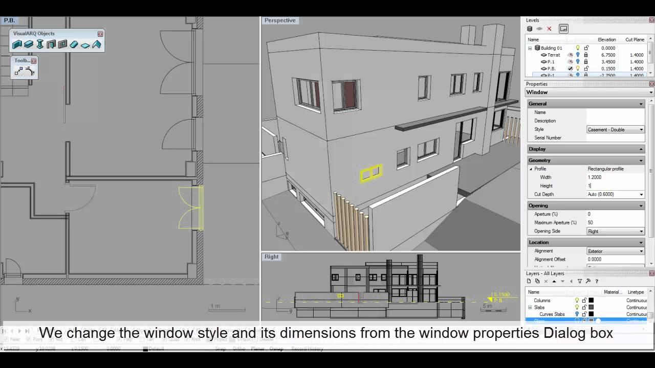 Create And Edit Windows In Rhino With Visualarq 1 Youtube