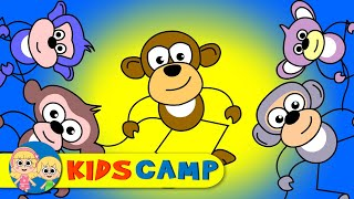 Five Little Monkeys Jumping on the Bed + More Nursery Rhymes And Kids Songs by KidsCamp
