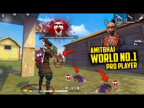 World No.1 Best Pro Player Amitbhai with Duo - Garena Free Fire