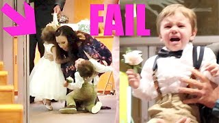 FAIL! Ring Bearer & Flower Girl | Twins During Wedding