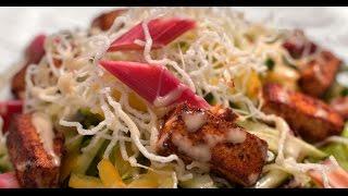 Братский салат из ревеня и тофу | 7 нот вегетарианской кухни
