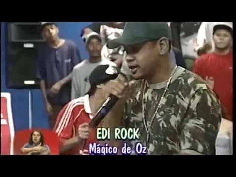 """Edi Rock """"Mágico De Oz"""" Ao Vivo Part. Esp. Pulga Do ABC e Lakers Programa Hip Hop Sul - RS [2003]"""