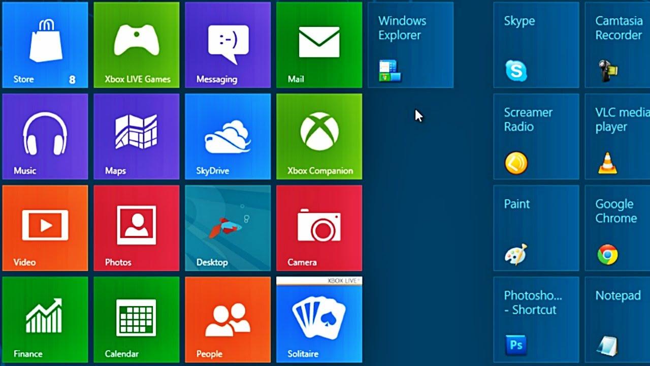 change tile icons windows 8.1
