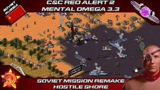 RED ALERT 2 MENTAL OMEGA 3.3 - Soviet Fan Mission Remake HOSTILE SHORE