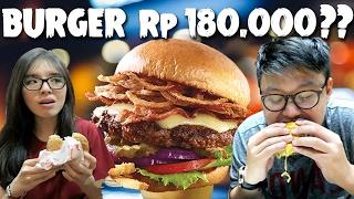 Burger Rp 180.000 Vs Rp 13.000 !!!