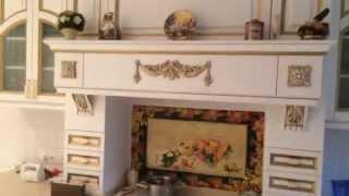 Кухни под заказ с деревянными фасадами . Белая с золотом . Карниз . Балясина . Балюстрада .(, 2015-09-03T17:26:06.000Z)