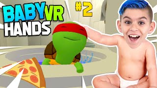 I FLUSHED MY BEST FRIEND DOWN THE TOILET! Baby Hands VR #2