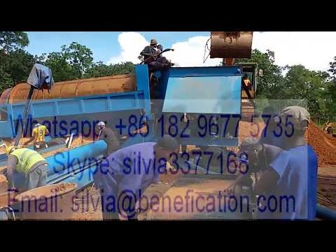 100tph Guinea Mobile Alluvial Gold Mining Trommel Drum Screen Wash Plant