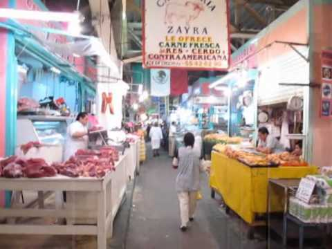 Mercado Merced Meat Market Walkthrough, Mexico City
