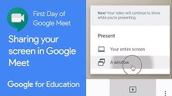 How to Share Your Screen in Google Meet