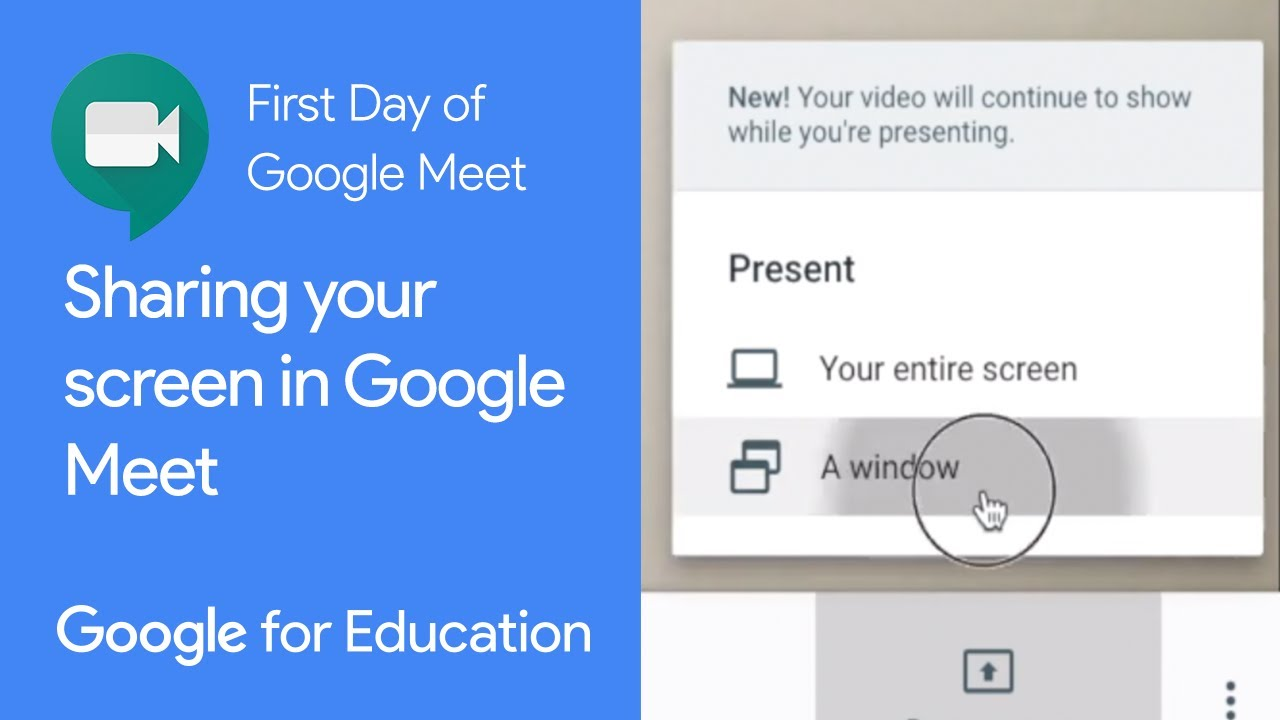 How To Share Your Screen In Google Meet Youtube