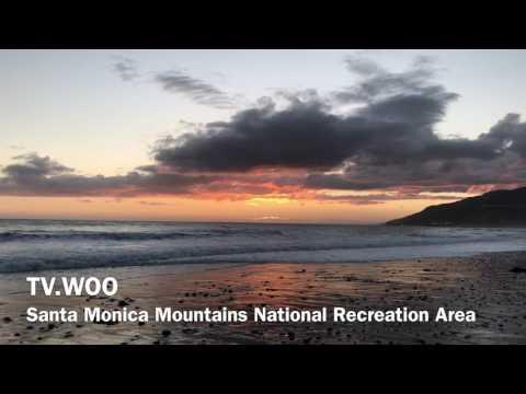 Beautiful Sunset In Santa Monica Los Angles USA 4k Quality