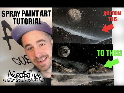 Spray Paint Art Tutorial For Beginners   How to Spray Paint Like a Pro thumbnail