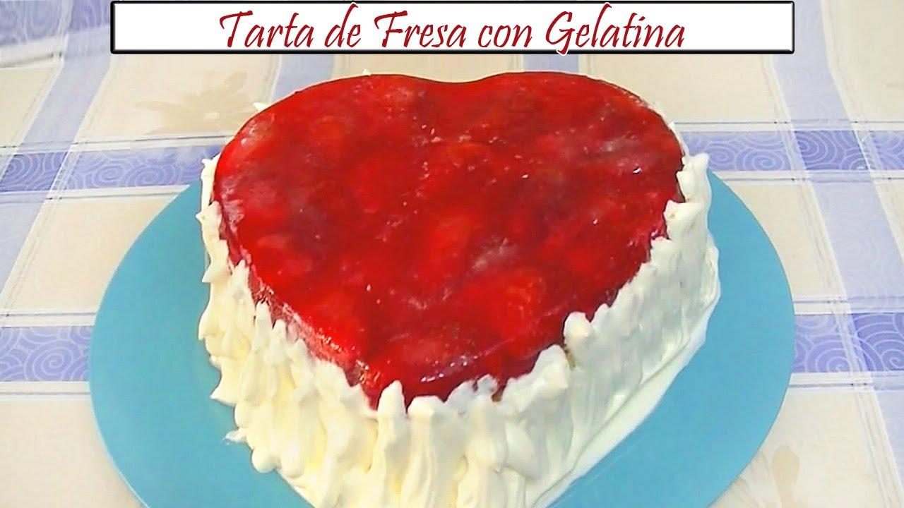 Tarta de Fresa con Gelatina ❤ | Receta de Cocina en Familia - YouTube
