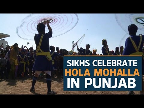 Sikhs celebrate annual festival of 'Hola Mohalla' in Punjab