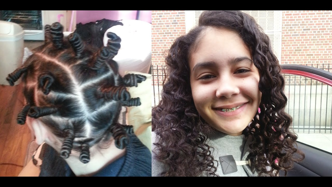 Bantu Knots on Long Natural Hair ✿ No Heat Curls Tutorial ✿ Cute
