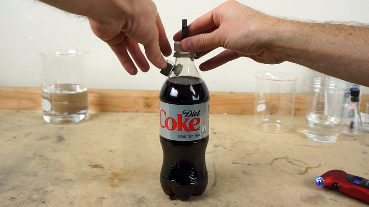 how many mentos in coke 16 ounce diet
