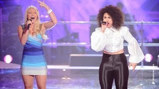 Anja Nissen and Sarah Hamad Sing When Love Takes Over | The Voice Australia 2014