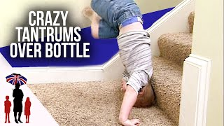 3 Year Old Throws Tantrum Over Bottle - Supernanny US
