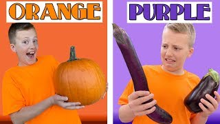 Eating Only ONE Color of Food for 24 Hours!!