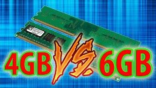 4GB VS 6GB RAM (IN 5 GAMES)