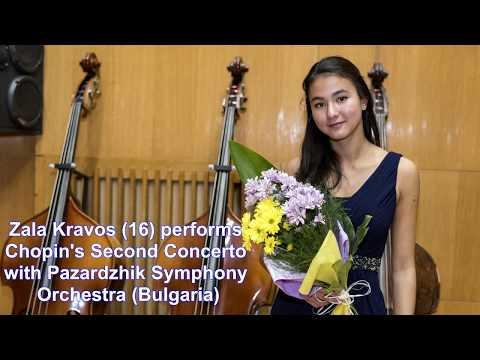 Zala Kravos (16) - Chopin: Piano concerto N° 2 - Larghetto