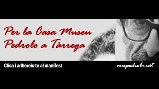 """Presentació i lectura del manifest """"Per la Casa Museu Pedrolo a Tàrrega"""""""