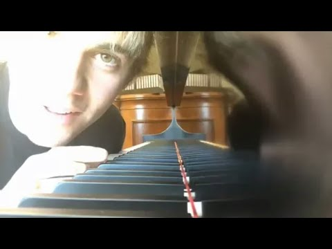 Justin Bieber playing piano cover