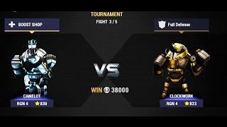 Real Steel Champions  TOURNAMENT  Camelot VS Clockwork NEW ROBOTS GAME Живая Сталь