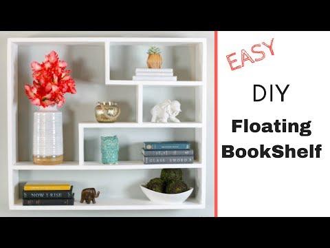 Easy DIY Floating Bookshelf | Modern Floating Shelves