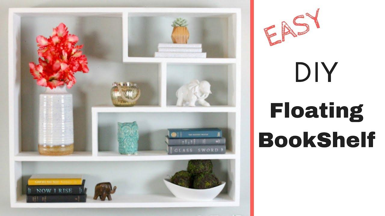 Easy diy floating bookshelf modern floating shelves