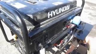 Обзор поломки двигателя бензинового генератора Hyundai HHY9000FE ATS смотреть