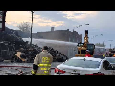 Harry's lumber fire Norwood Park Chicago